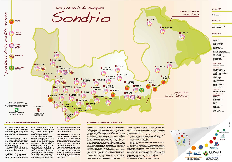 Cartina Valtellina Lombardia